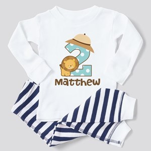 Personalized 2nd Birthday Safari Jungle Pajamas