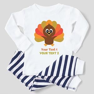 Personalize Little Turkey Toddler Pajamas