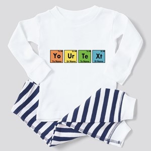 Personalized Your Text Periodic Ta Toddler Pajamas