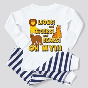 Lions and Tigers and Bears Toddler Pajamas
