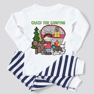 Girl Crazy For Camping Toddler Pajamas