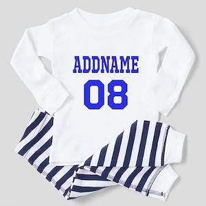Blue Jersey Style Custom Toddler Pajamas