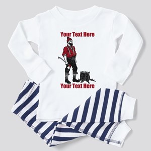 Lumberjack CUSTOM TEXT Toddler Pajamas