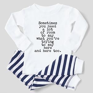 Ten Line Custom Message Pajamas