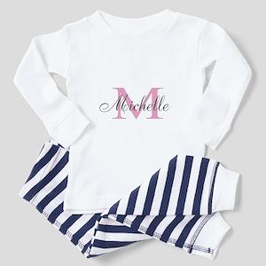 Personalized Pink Monogram Letter M Pajamas