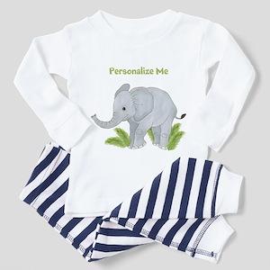 Personalized Elephant Toddler Pajamas