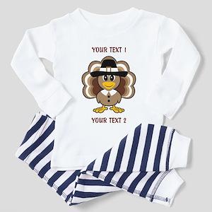 Personalized Baby Turkey-Pilgrim Pajamas