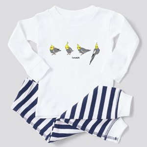 Gray Cockatiels Toddler Pajamas