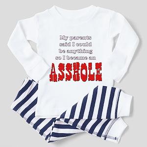 Parents said... Asshole Toddler Pajamas