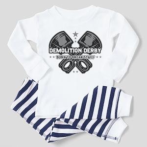 demolition derby born to break Toddler Pajamas