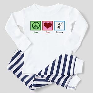 Peace Love Lacrosse Toddler Pajamas