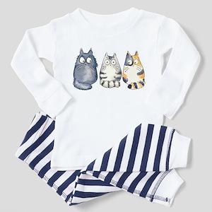 Three 3 Cats Toddler Pajamas