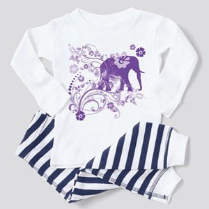 Elephant Swirls Purple Toddler Pajamas