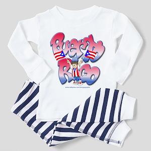 Puerto Rico Graffiti Design Toddler Pajamas