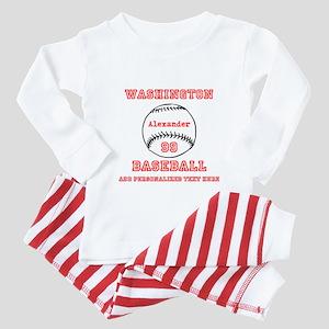 Baseball Personalized Toddler Pajamas
