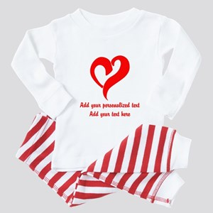 Red Heart Personalized Toddler Pajamas