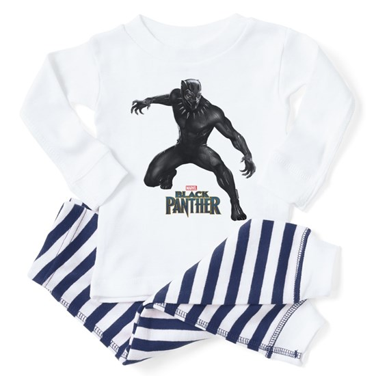 43cdb580865b Black Panther Pose Toddler Pajamas by Marvel - CafePress