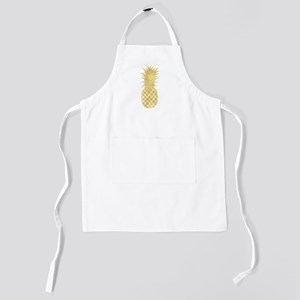 Gold Glitzy Pineapple Kids Apron