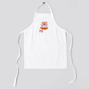 Cute & Funny I Miss You Pig Time Ba Kids Apron