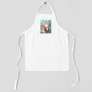 Cow! Colorful, art! Kids Apron