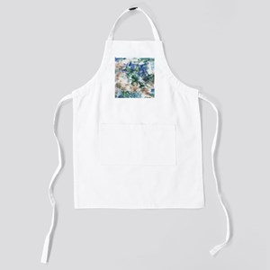 Blue and Brown Abstract Kids Apron