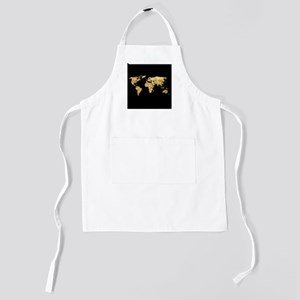 'Gold Foil Map' Kids Apron
