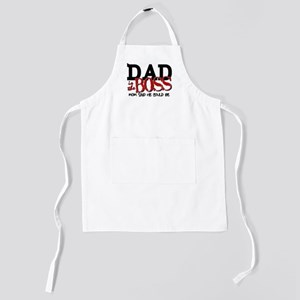Dad is the Boss Kids Apron