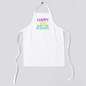 Happy 100th Day of School Teacher Stude Kids Apron
