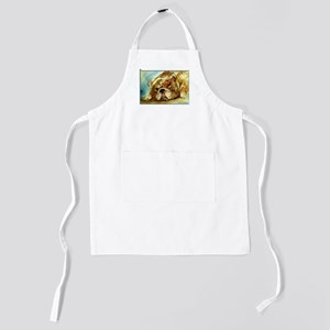 Bulldog! Dog art! Kids Apron