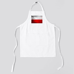 Flag of Poland Grunge Kids Apron