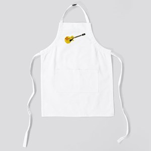 New Mexico State Flag Guitar Kids Apron