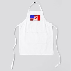 United States and Canada Flags Combined Kids Apron