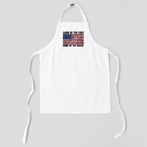 Land Of The Free,Home Of The Brave Kids Apron
