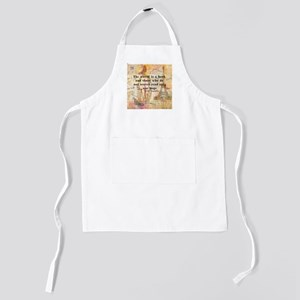 The World is a Book quote Kids Apron