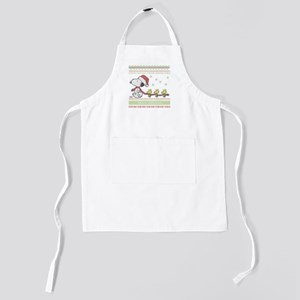Snoopy Ugly Christmas White Kids Apron