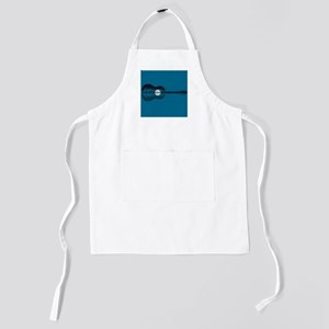 Trees sea and the moon turned guitar Kids Apron