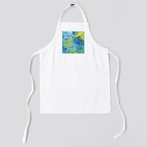 Yellow and Blue Abstract Kids Apron