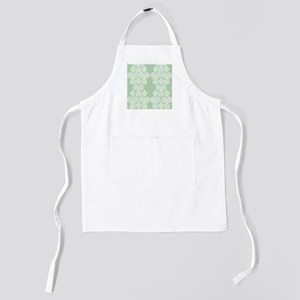 Light Green Damask Kids Apron
