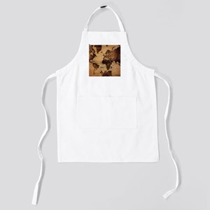 Vintage World Map Kids Apron