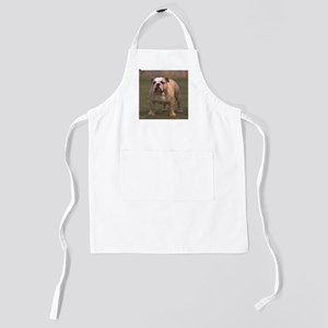 bulldog full 2 Kids Apron