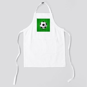 Football Ball And Field Kids Apron