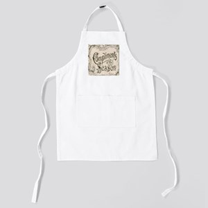 vintage typography merry christmas Kids Apron