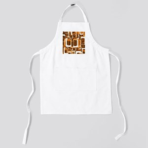 retro pattern 1971 orange Kids Apron