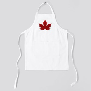 Red Maple Leaf Kids Apron