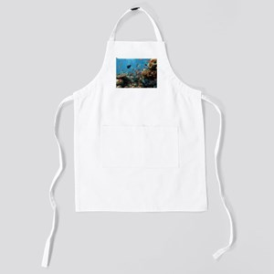 Exotic Fishes and Underwater Plants Kids Apron