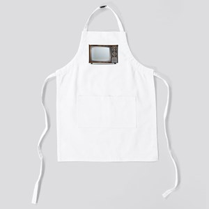 Old Television Set Kids Apron