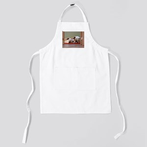 2 sleeping bulldogs Kids Apron