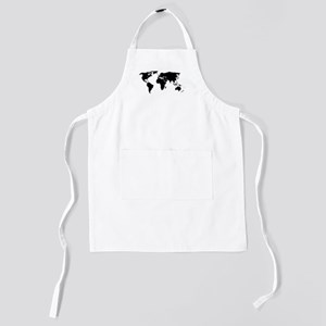World Outline Kids Apron