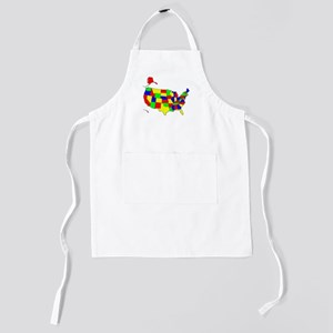 Map of America VII Kids Apron