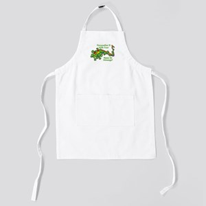 PERSONALIZED Rainbow And Shamrocks Kids Apron